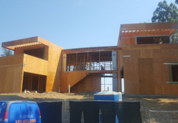 Bel Air hillside Framing Project