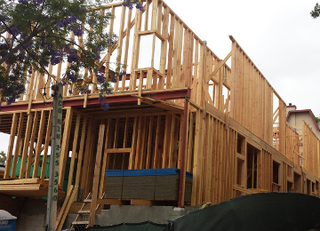 Multi-family framing project in Los Angeles