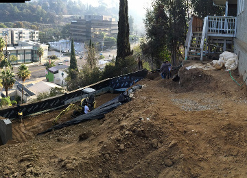 Hillside Concrete Foundation Project in Los Angeles