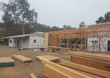 Rough framing project in Brentwood