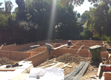 West LA foundation and framing project