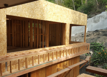 Custom wood framing project in Bel Air, Los Angeles